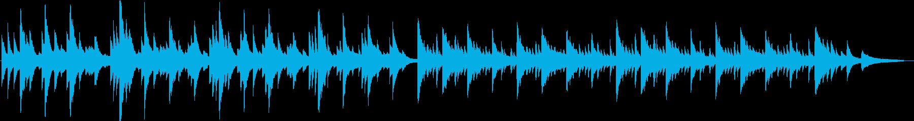 揺れる感情を表したピアノソロの再生済みの波形
