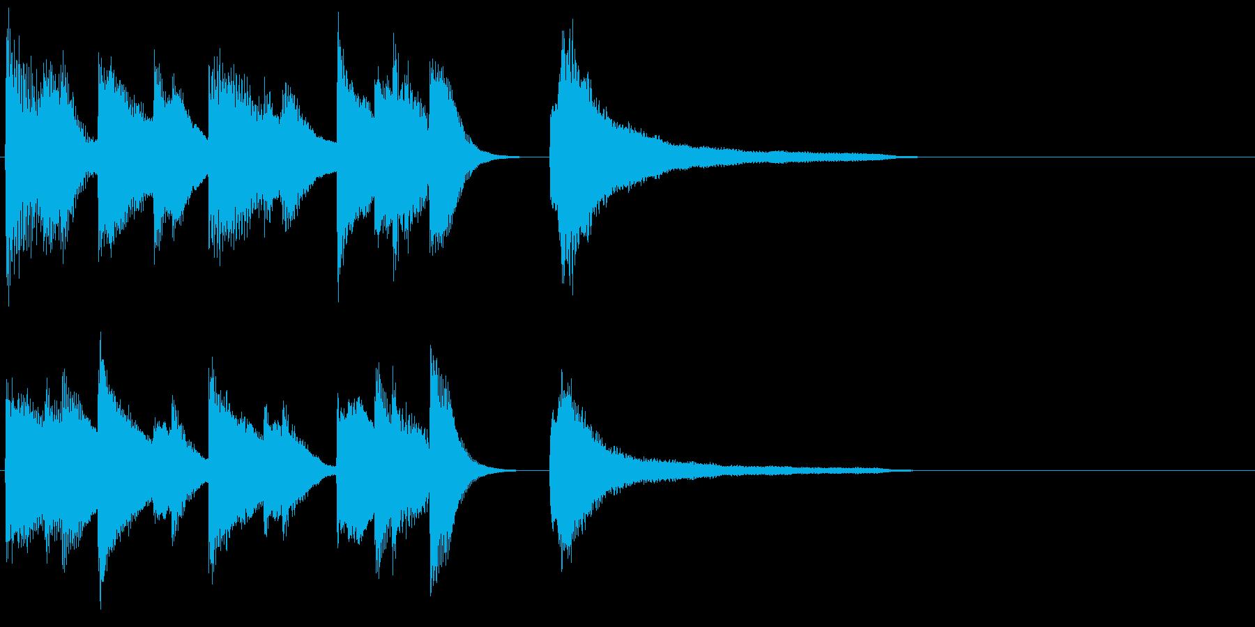 ピアノ ジングル11 ハッピーの再生済みの波形