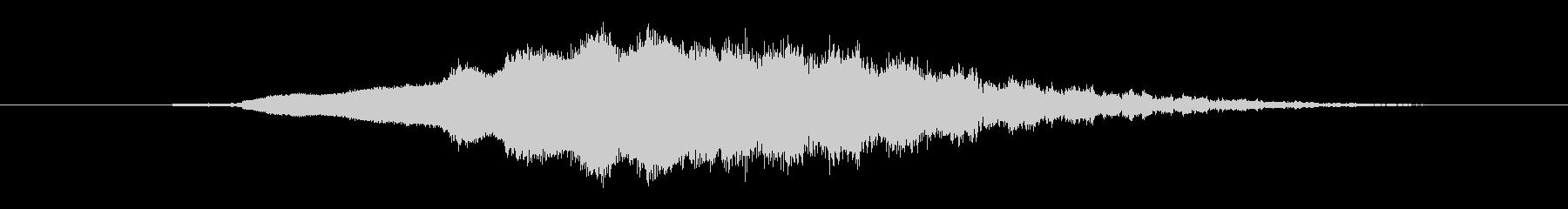 特撮 ウーシュ01の未再生の波形