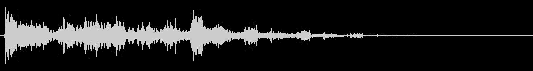 ズンズンチャン(映像の繋ぎの効果音)の未再生の波形