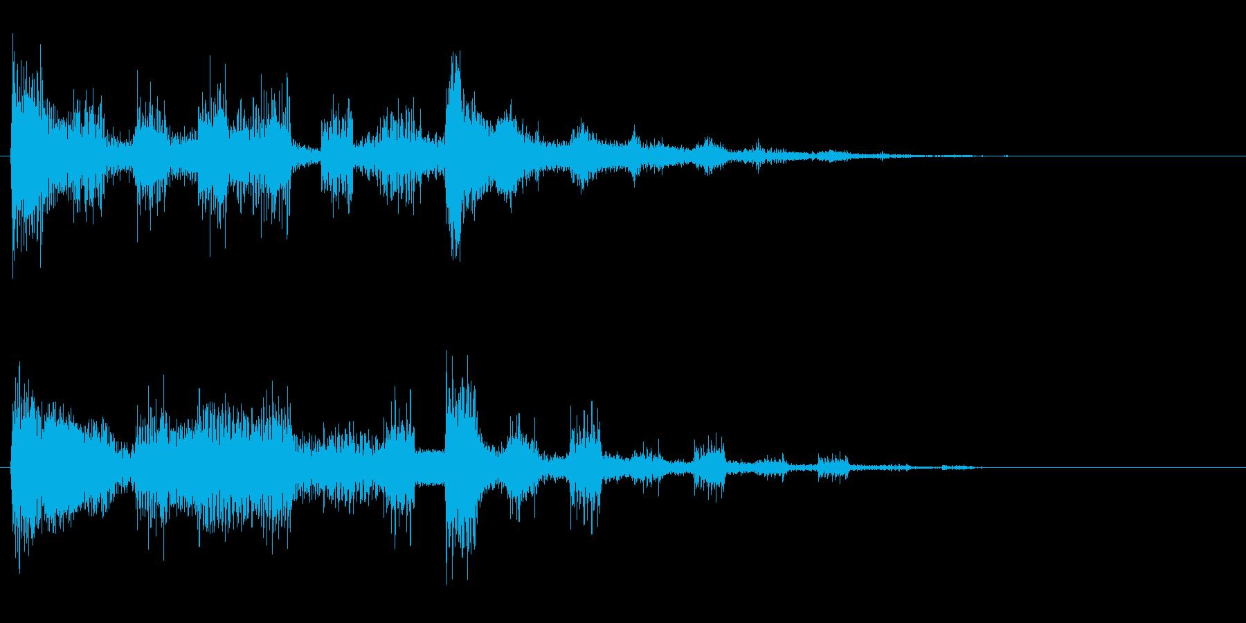 ズンズンチャン(映像の繋ぎの効果音)の再生済みの波形