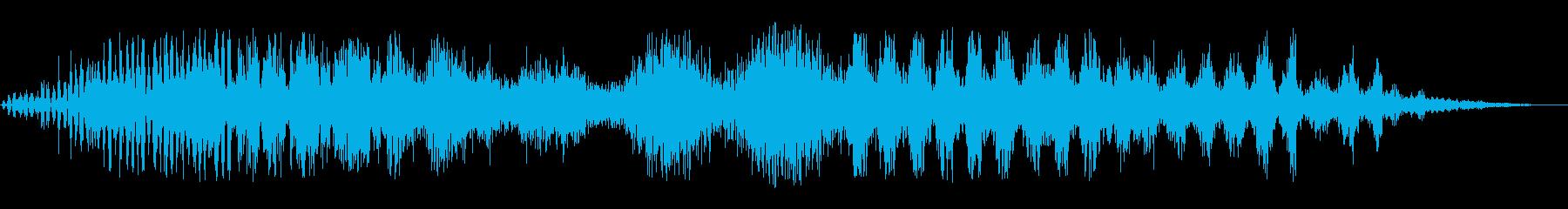 静的変動の再生済みの波形