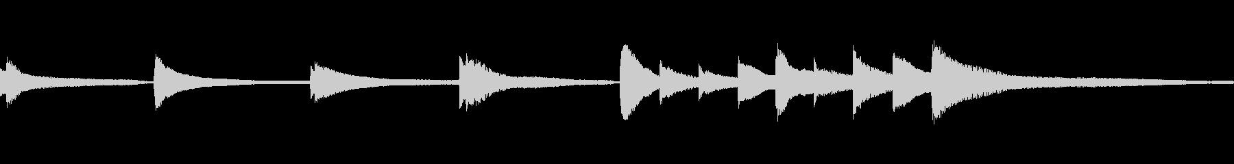 明るく楽しい音色のアコースティックの未再生の波形