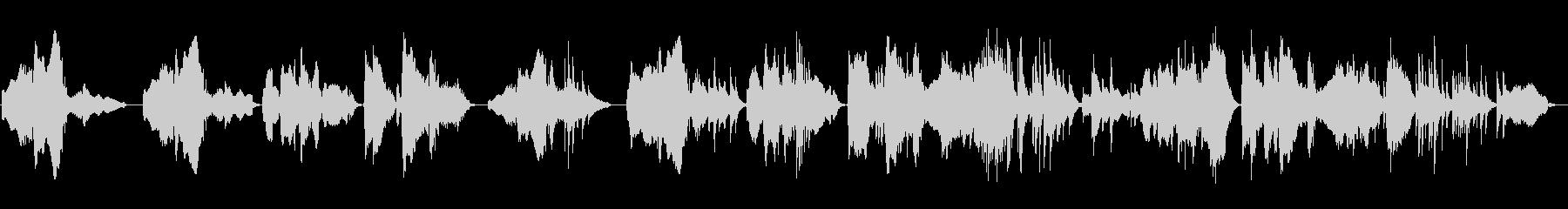 和風の旋律が印象的な楽曲の未再生の波形
