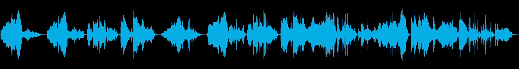和風の旋律が印象的な楽曲の再生済みの波形