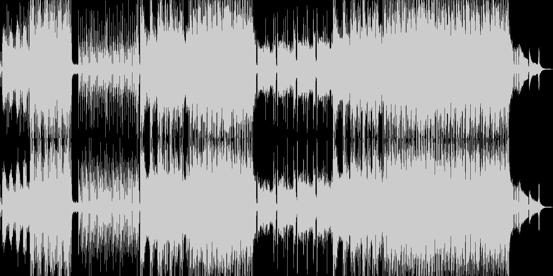 トロピカルで踊りだすユニークなBGMの未再生の波形