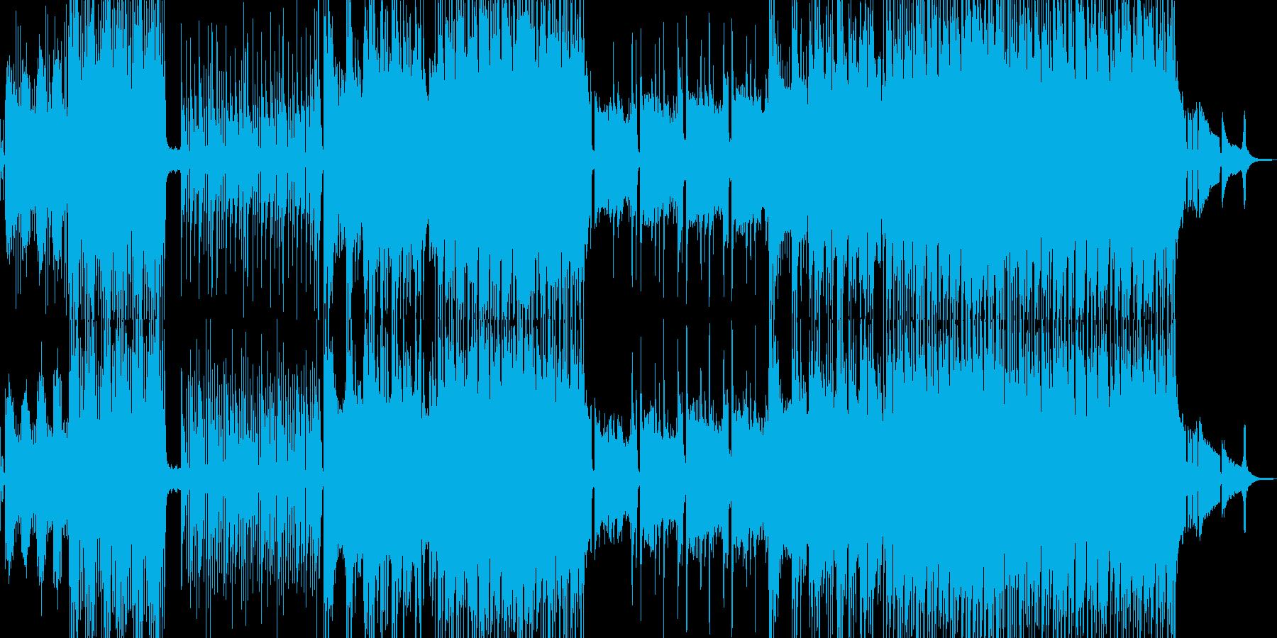 夏風感じるトロピカルポップスの再生済みの波形