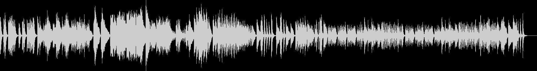 アイネクライネ 軽快なソロピアノショートの未再生の波形