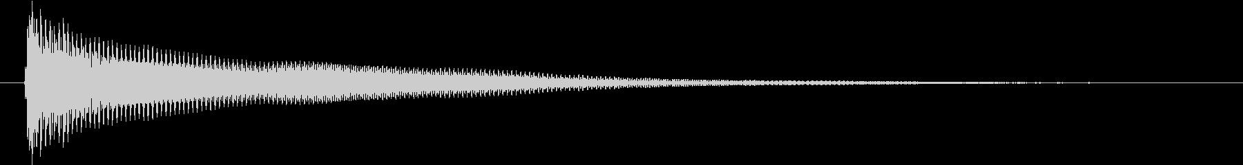 パーカッション 口ハープ15の未再生の波形