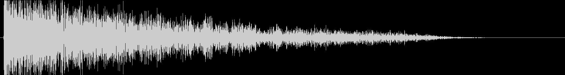 ドーン(巨大な衝撃音B)の未再生の波形