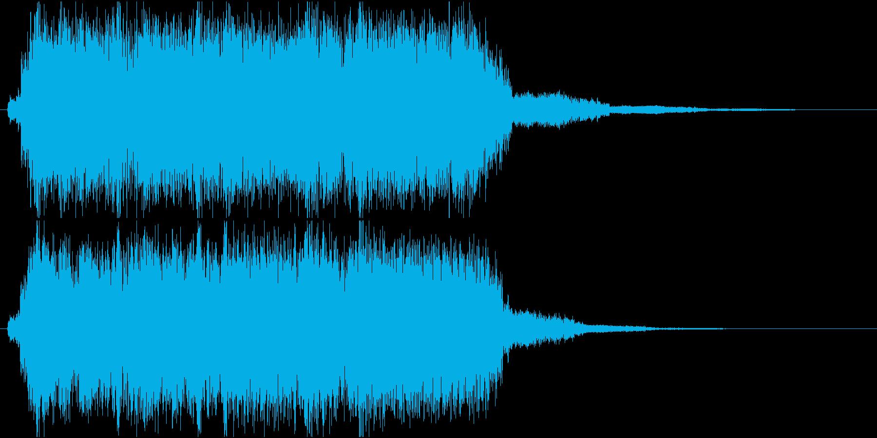 ガッツのあるギターリフのジングルの再生済みの波形