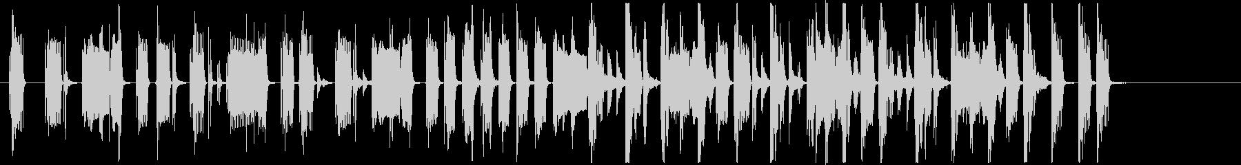 グルーヴィベース&ファンキーリズムのロゴの未再生の波形