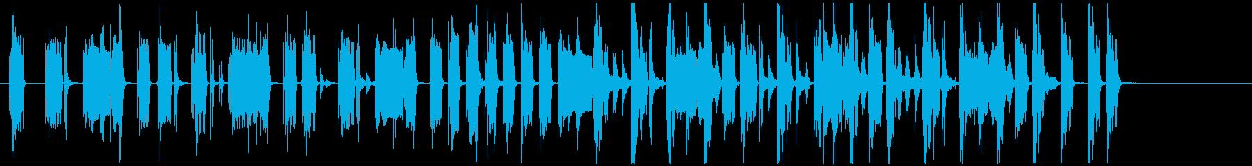 グルーヴィベース&ファンキーリズムのロゴの再生済みの波形