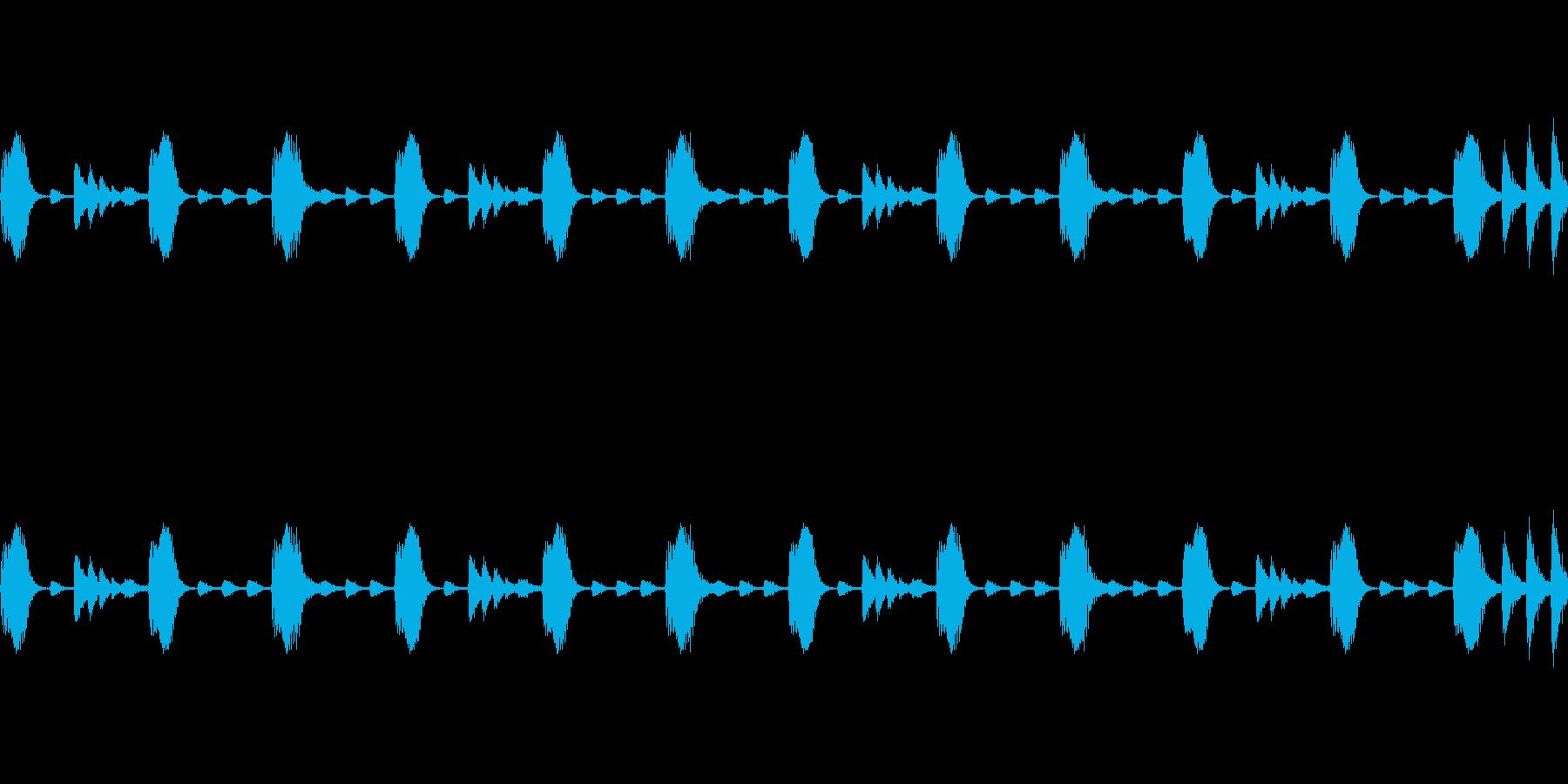 Electro リズムパターンの再生済みの波形
