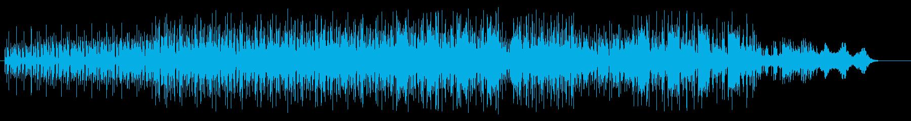 クラブ・シーンのマイナー・テクノ・ダンスの再生済みの波形
