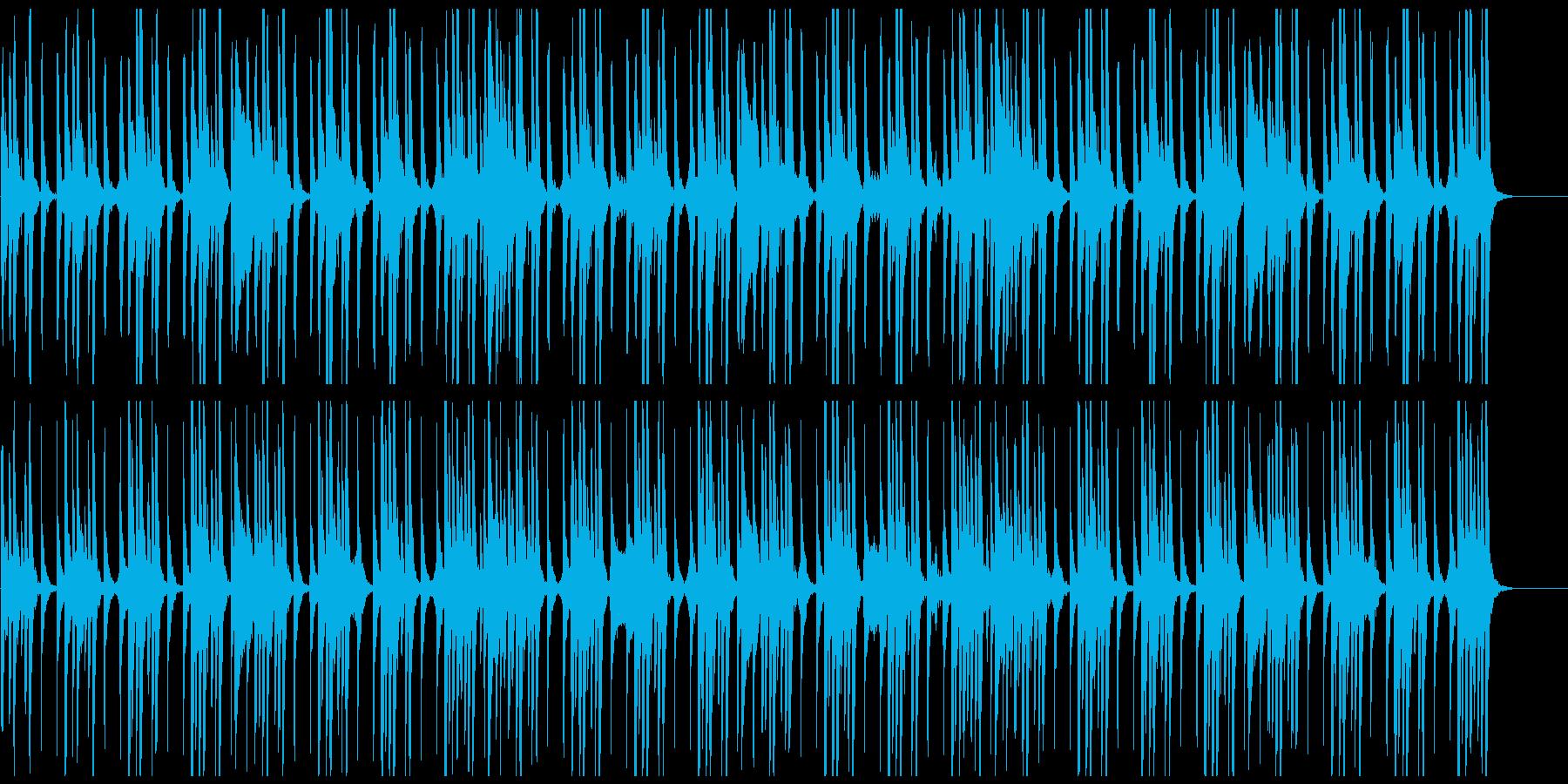 データサイエンス、科学、ミニマルな曲の再生済みの波形