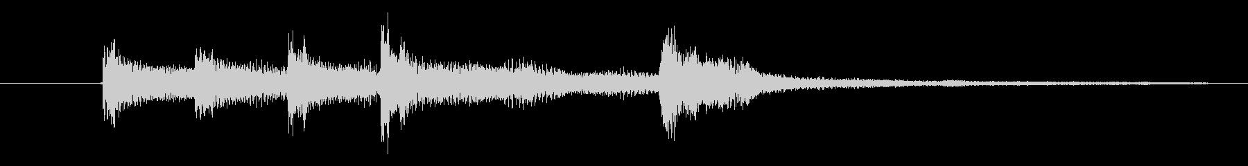 『ありがとぅ』の効果音です。の未再生の波形