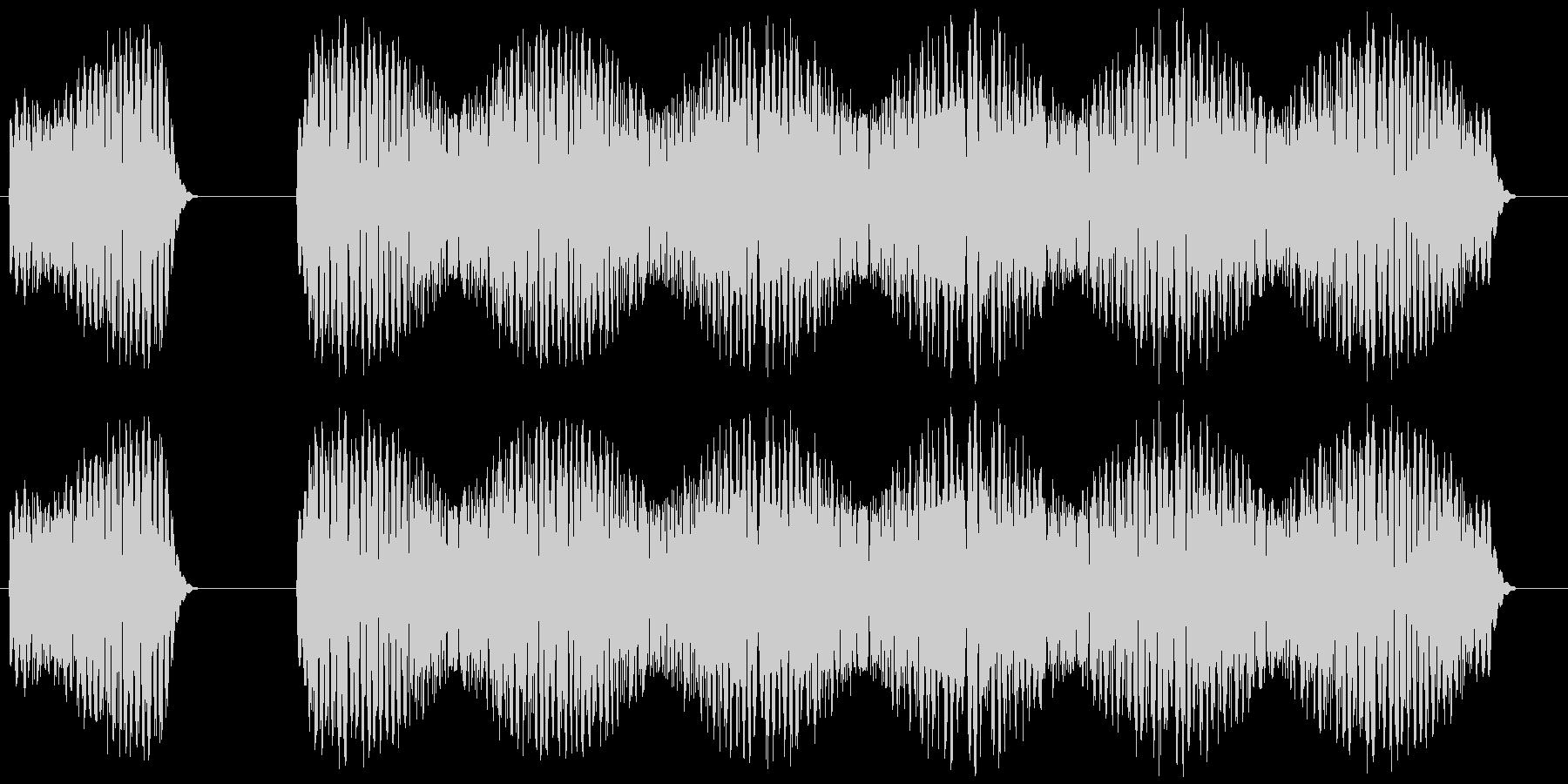 クイズ不正解のときの効果音「ブブーッ」の未再生の波形