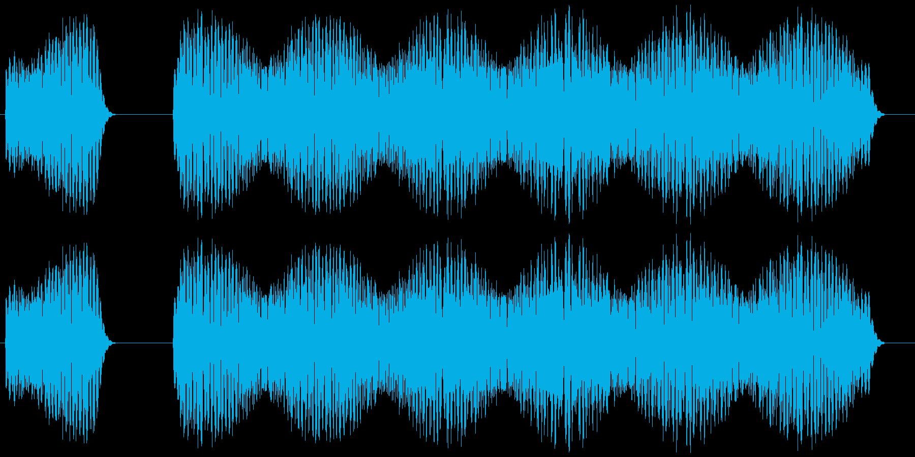 クイズ不正解のときの効果音「ブブーッ」の再生済みの波形
