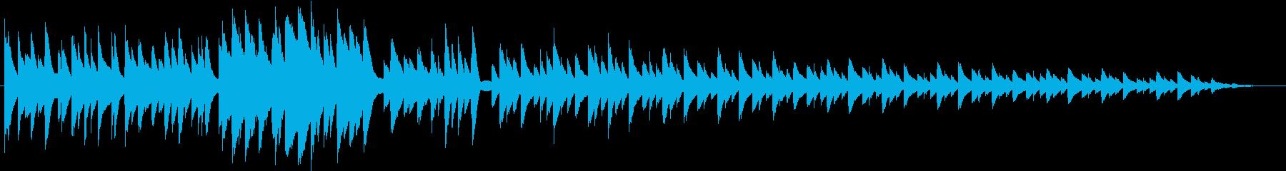 古いピアノで演奏されたバラードの再生済みの波形