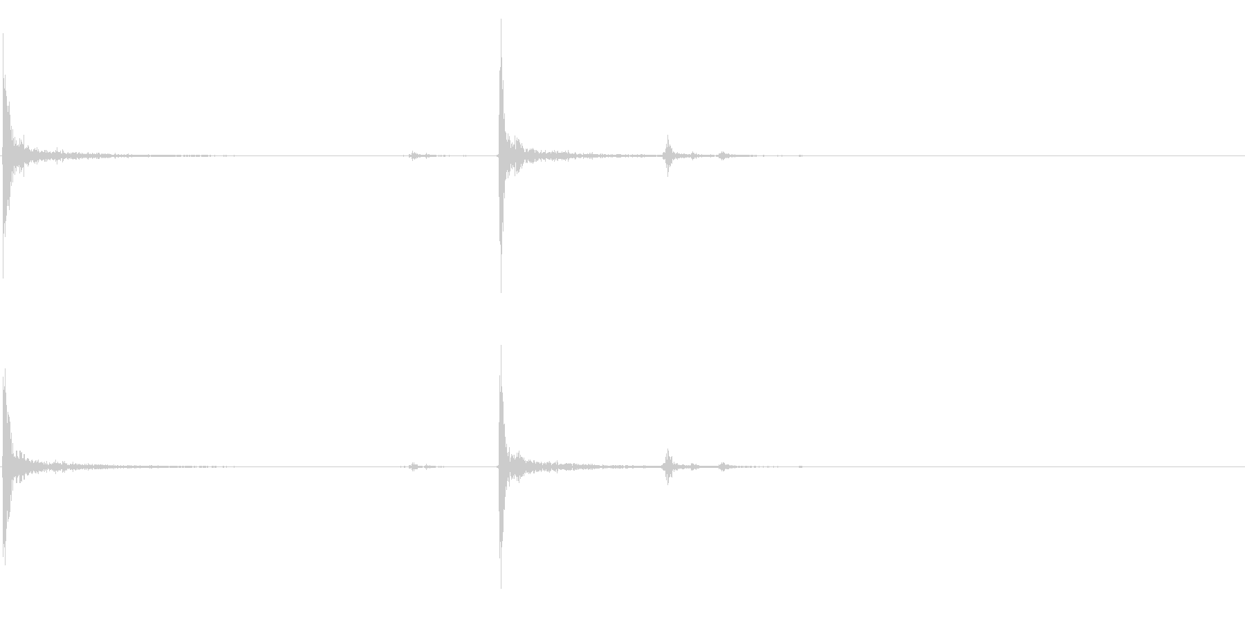 【生録音】パッケージ 開封音 9の未再生の波形