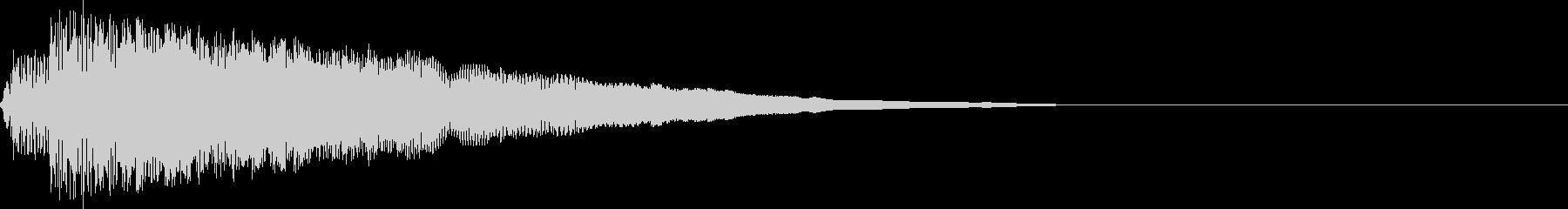 ポコン!(ピコピコ音/ショット/かわいいの未再生の波形