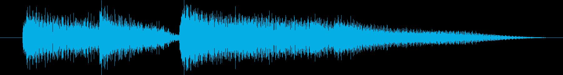 ピアノ演奏/CM前、天気予報前のジングルの再生済みの波形