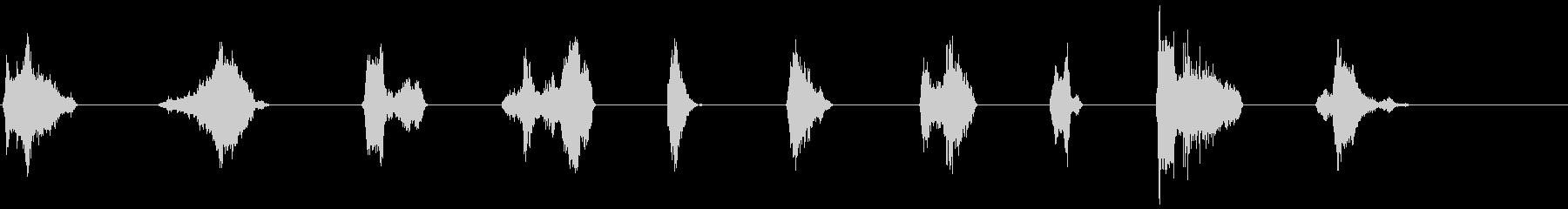 単一の声の影響、男性21-30の未再生の波形