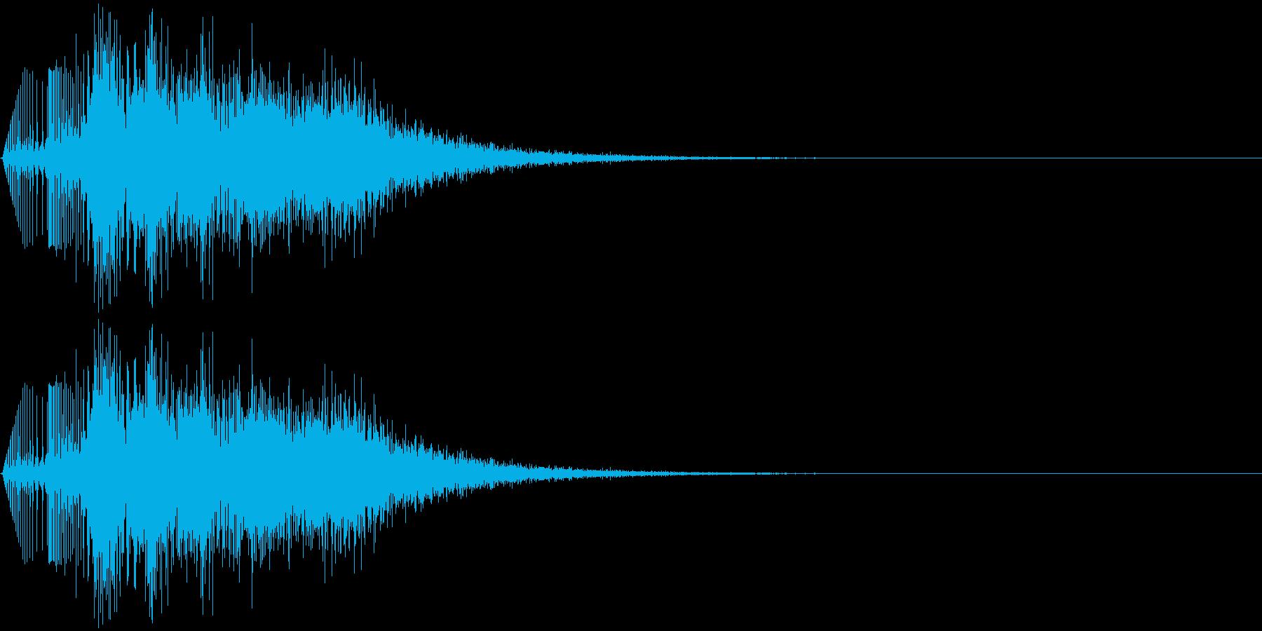 ゲームで使う事を想定した「爆発」「消滅…の再生済みの波形