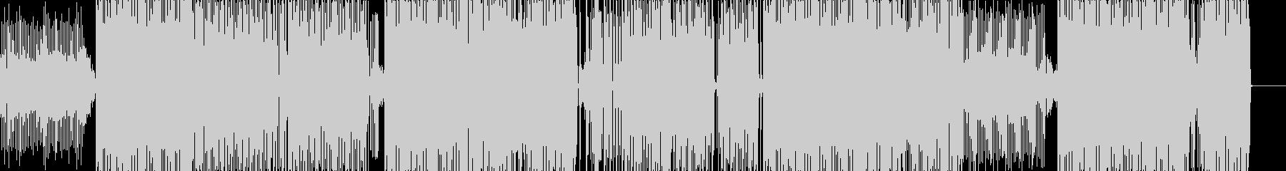 ユニークで軽快なゲーム音楽BGMの未再生の波形