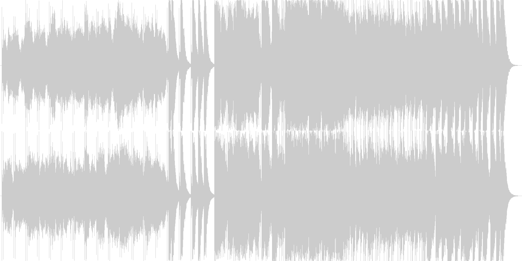 迫力ある力強いメロディーの未再生の波形