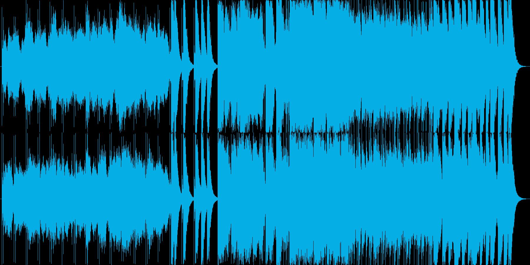 迫力ある力強いメロディーの再生済みの波形