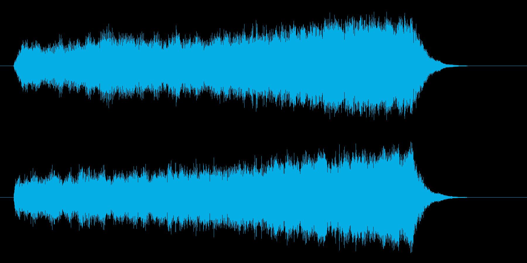シンプルで神秘的なシンセジングルの再生済みの波形