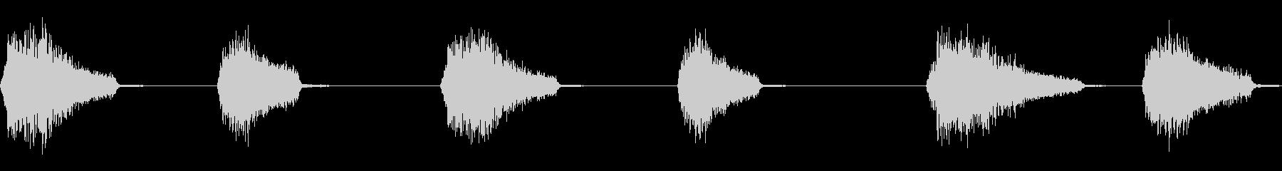 ゾンビの死の叫びの未再生の波形