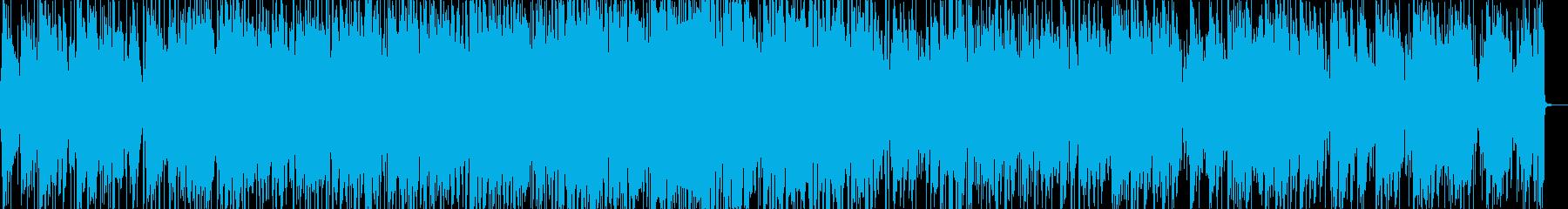 爽やかなボサノバピアノの再生済みの波形