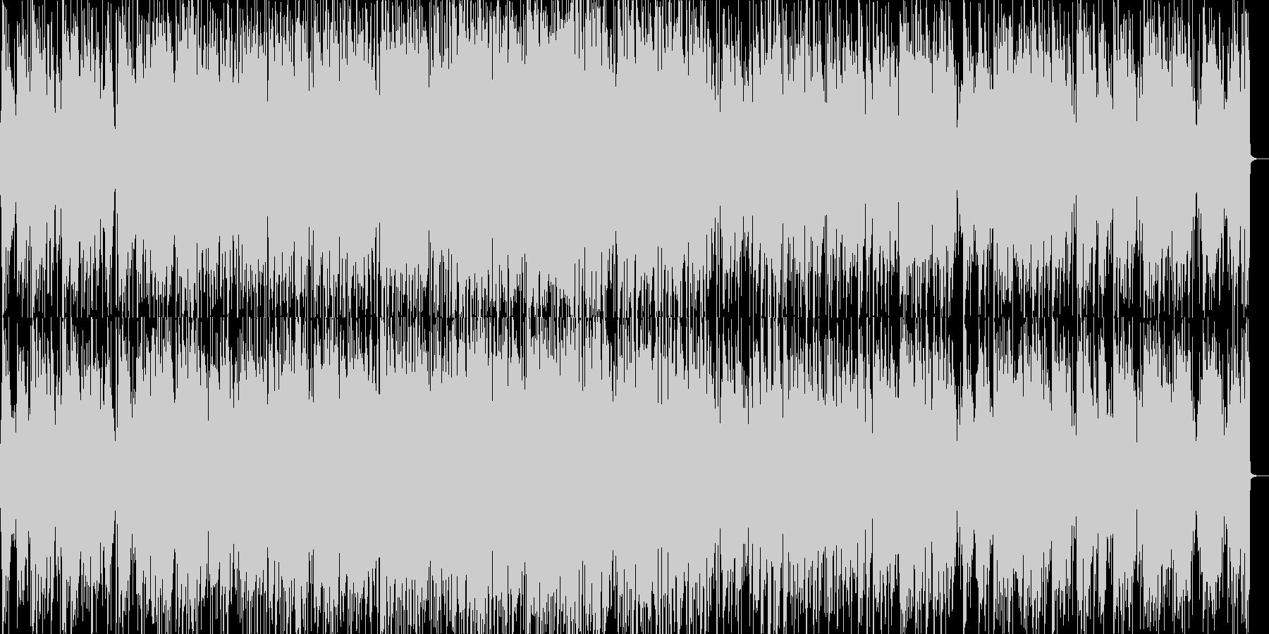 爽やかなボサノバピアノの未再生の波形