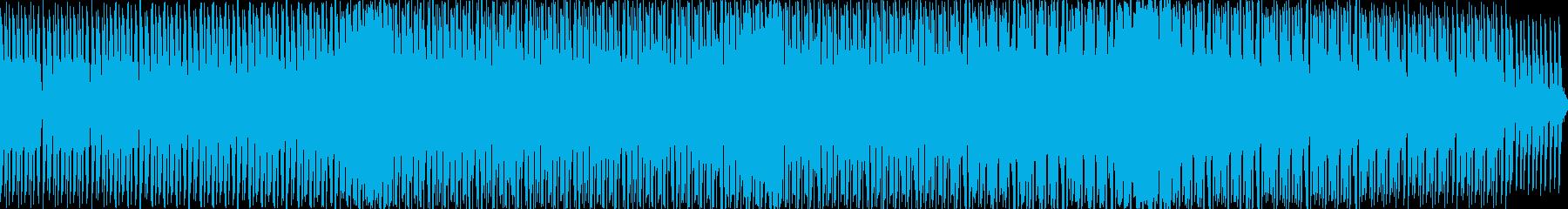 シンセドラムとシンセサイザーのループの再生済みの波形