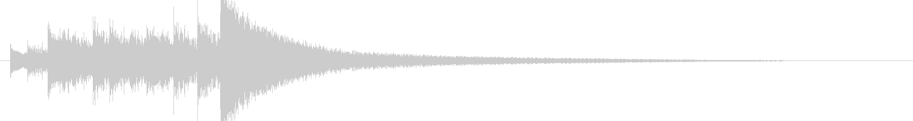 気味の悪い弦楽器の音(ツィターの音)の未再生の波形