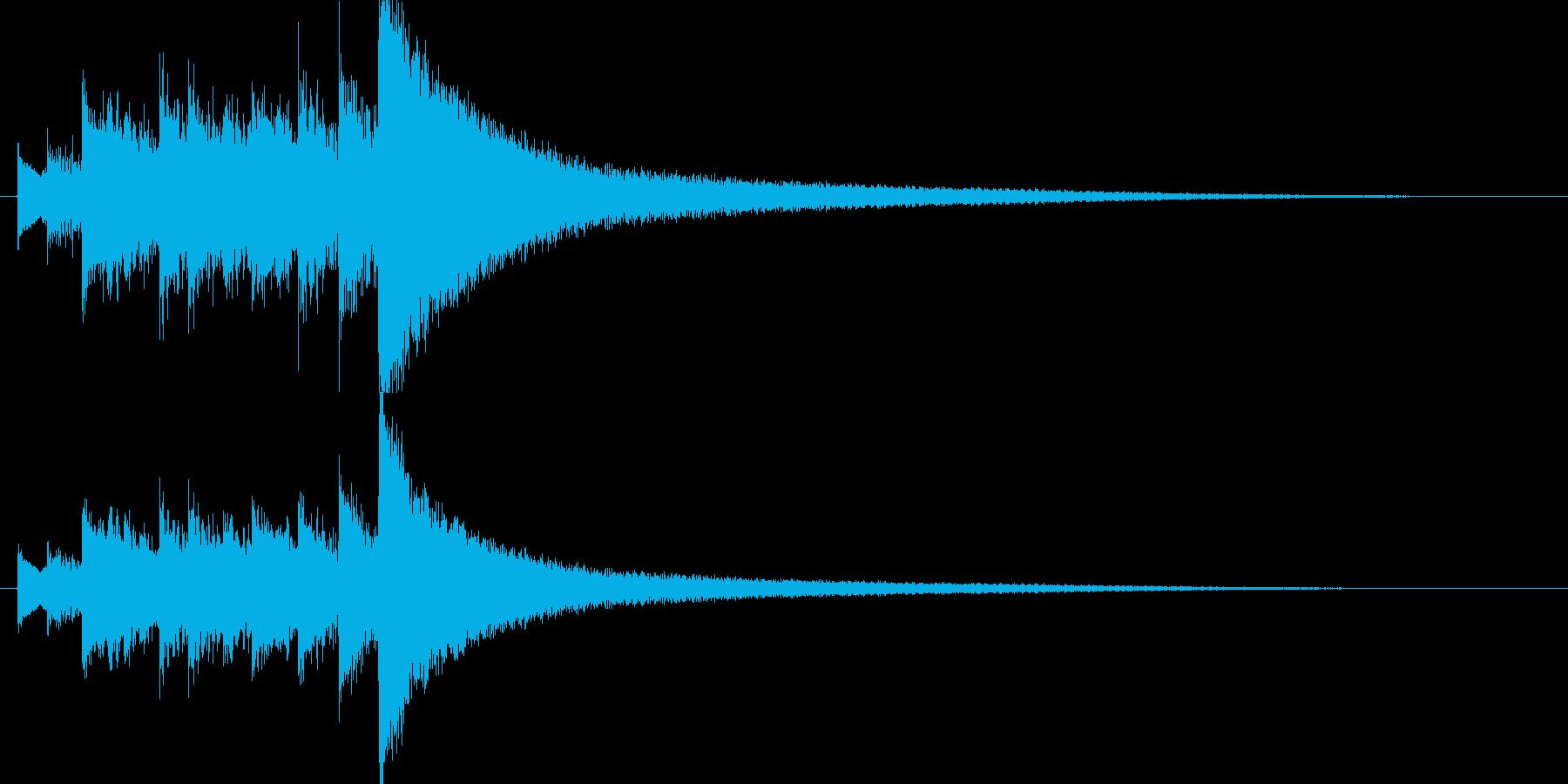 気味の悪い弦楽器の音(ツィターの音)の再生済みの波形