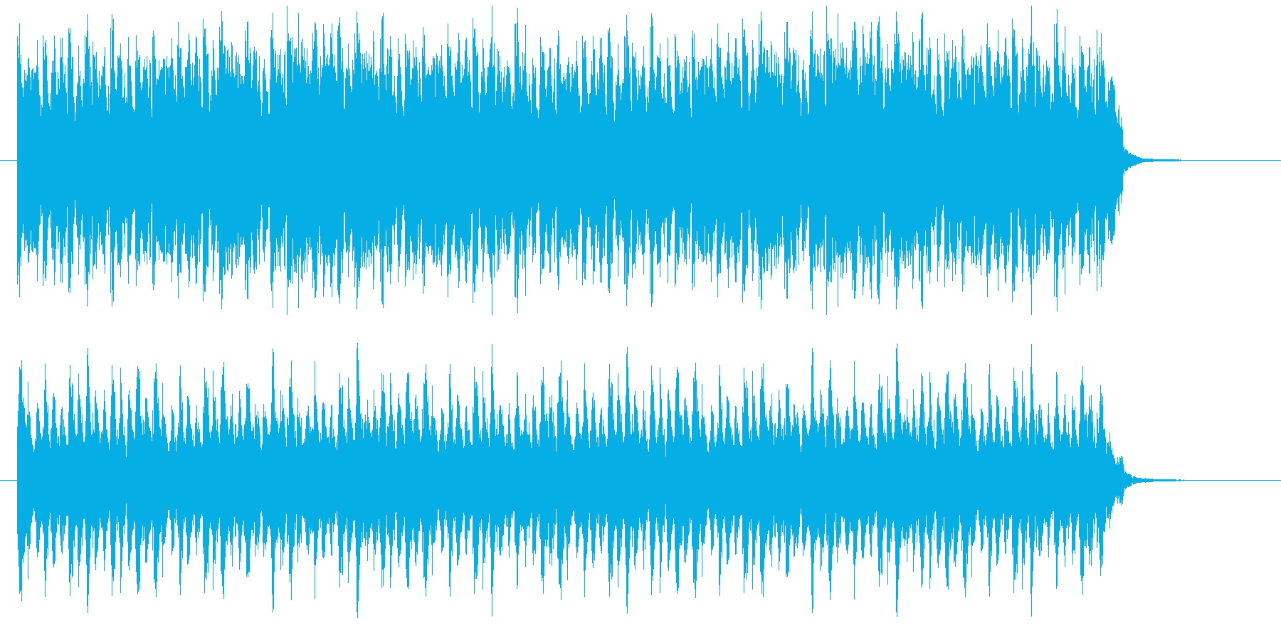緊迫した場面に合う音楽です。の再生済みの波形