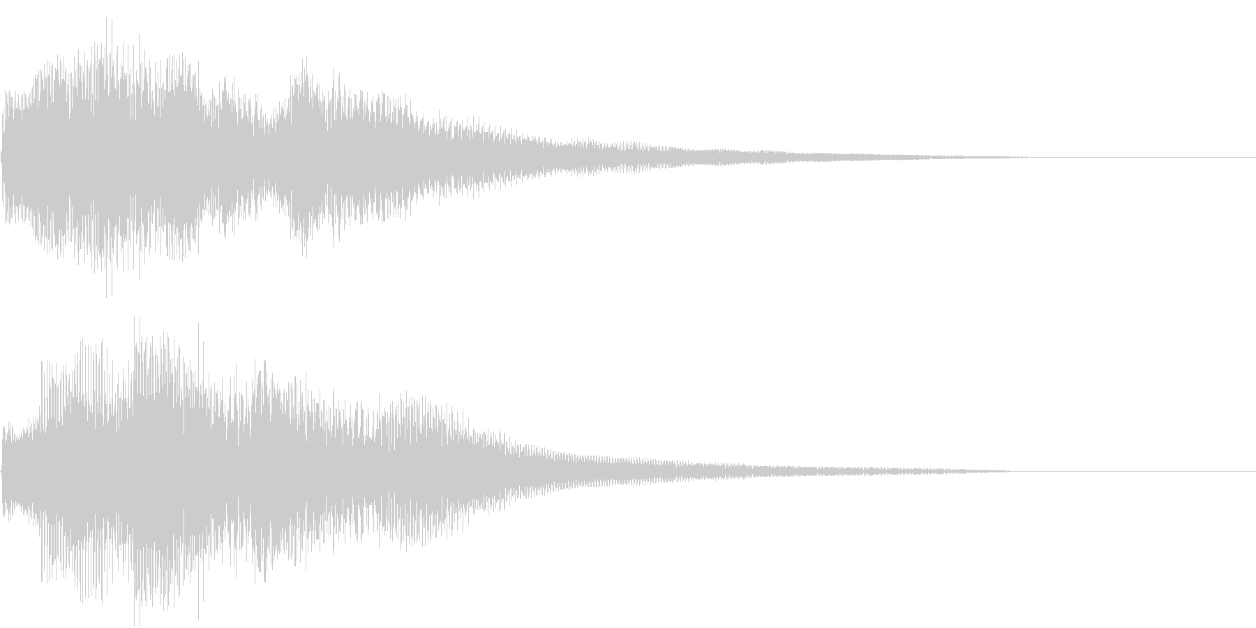 ウインドベルのようなピアノの調べの未再生の波形