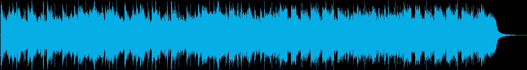 和風な温泉村っぽいBGM(1ループ)の再生済みの波形