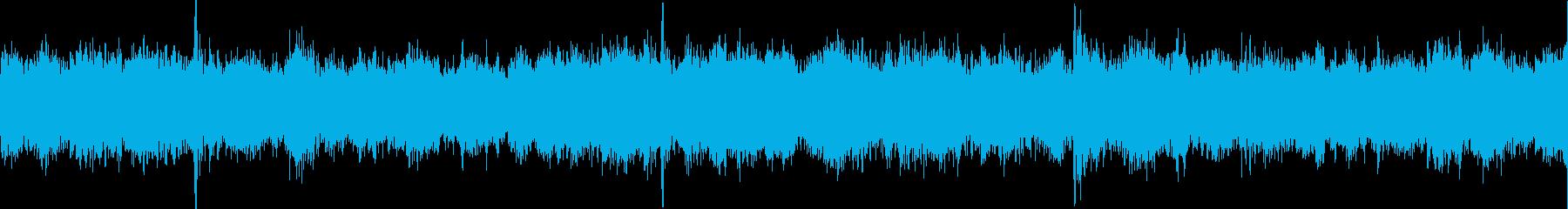 チュイーン、キュイーン(整備、工作音)の再生済みの波形
