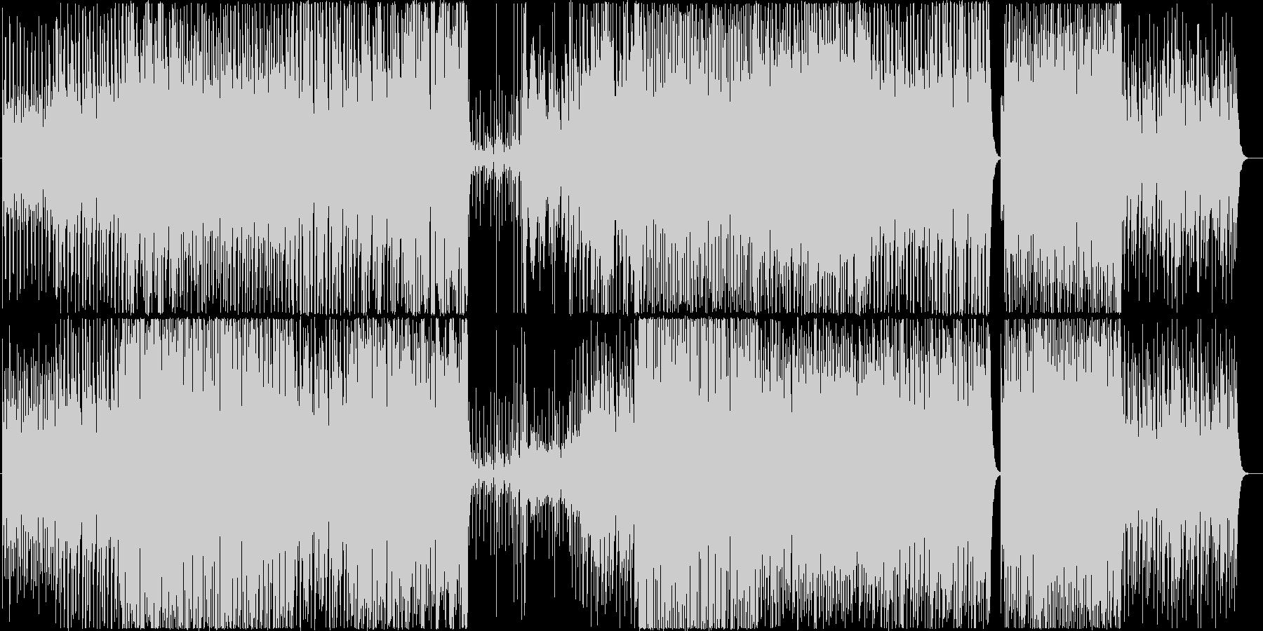 軽快なスイングジャズの未再生の波形