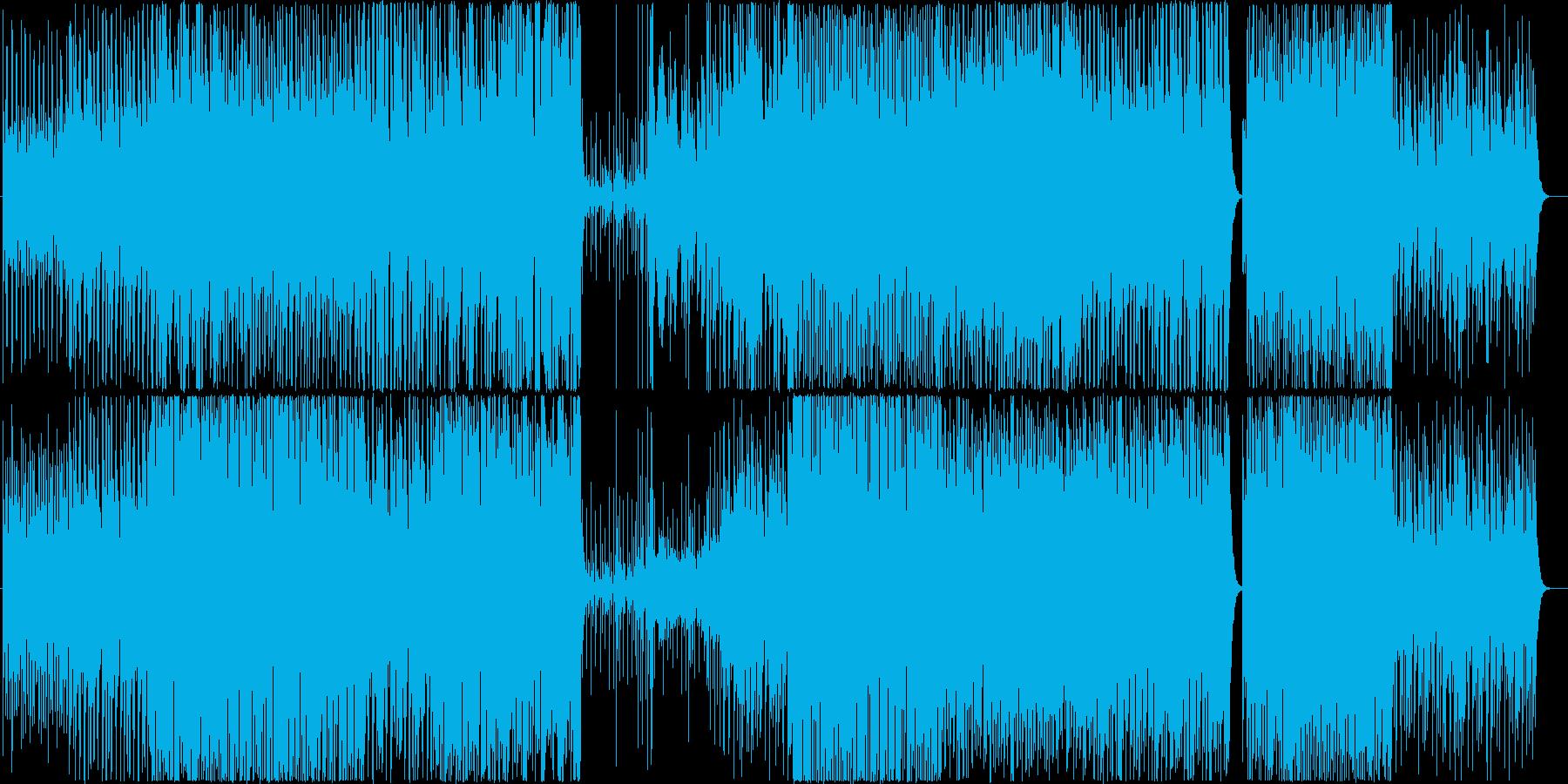軽快なスイングジャズの再生済みの波形