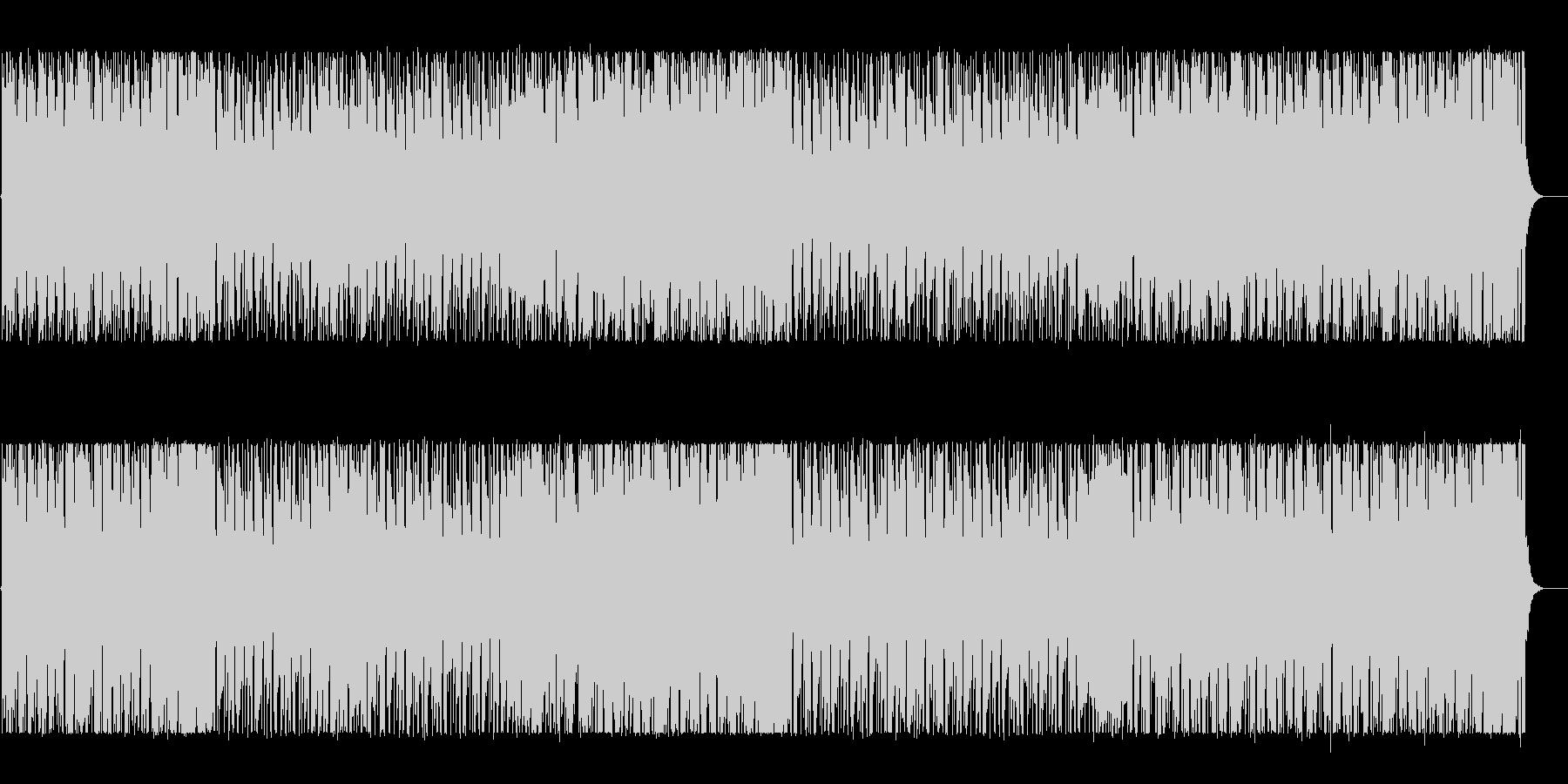 ワクワクするようなリズミカルなBGMの未再生の波形