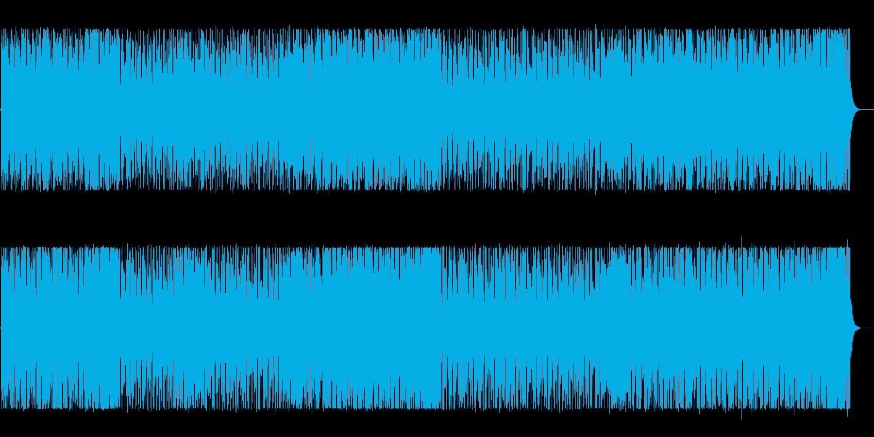 ワクワクするようなリズミカルなBGMの再生済みの波形
