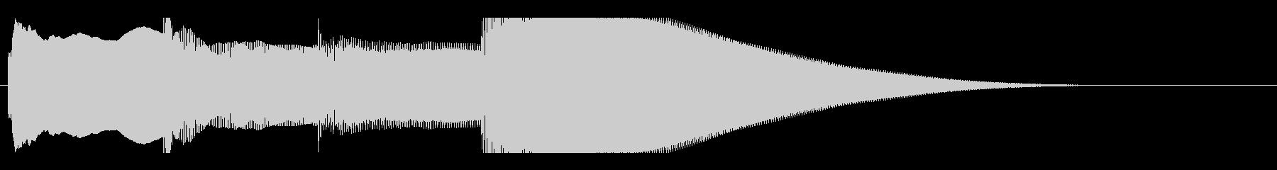 アナウンス後 チャイム-3_dryの未再生の波形