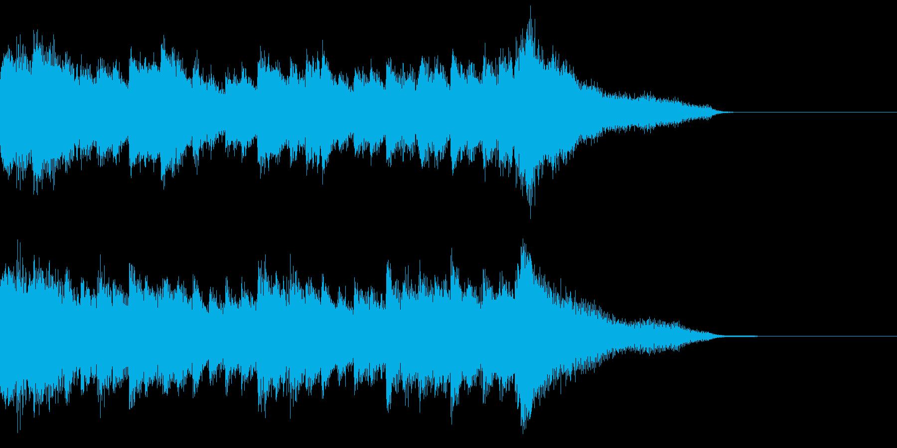 可憐な雰囲気のある中世風ジングルの再生済みの波形