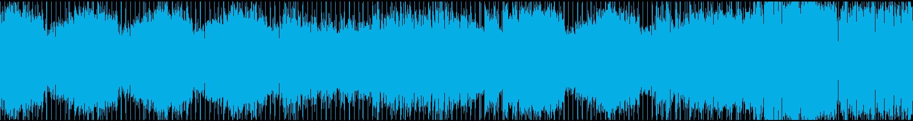 ノリの良いダンスロックチューン(ループ)の再生済みの波形